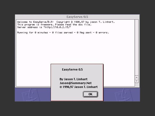 Main interface + about window