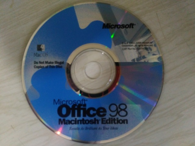 Windows Microsoft Office 98 Mac edition (1998)