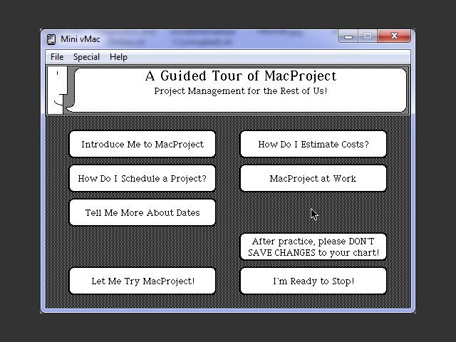 MacProject Guided Tour