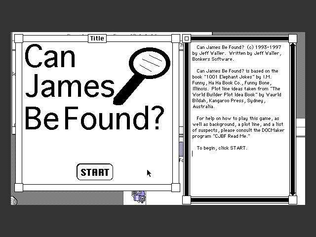 Can James Be Found? (0)