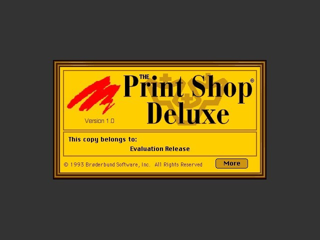 The Print Shop Deluxe 1.0 (floppy version) (1993)