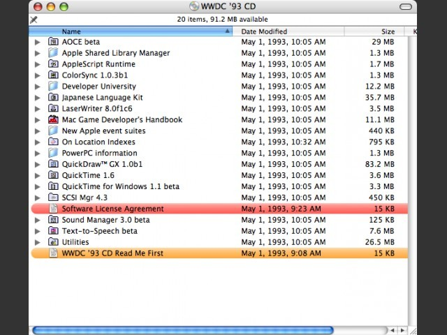 WWDC '93 CD Partition