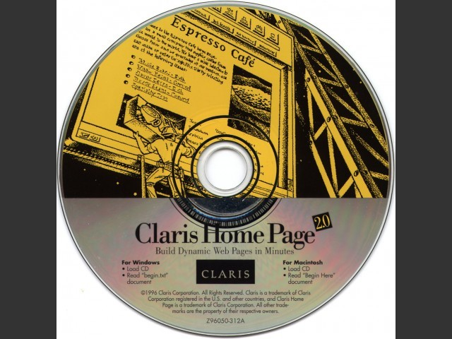 Claris Home Page 2.0 (1996)