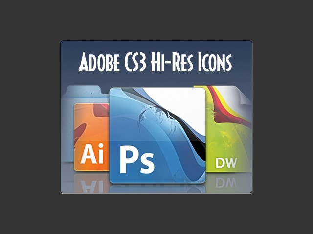 Adobe CS3 Hi-Res Icon Set (2008)