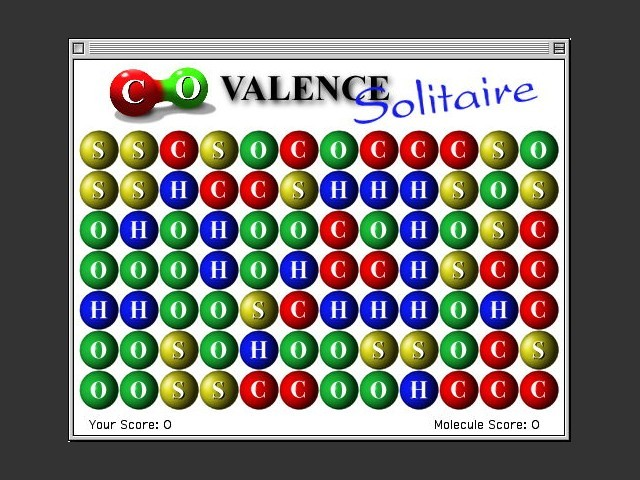 Covalence Solitaire game start screenshot