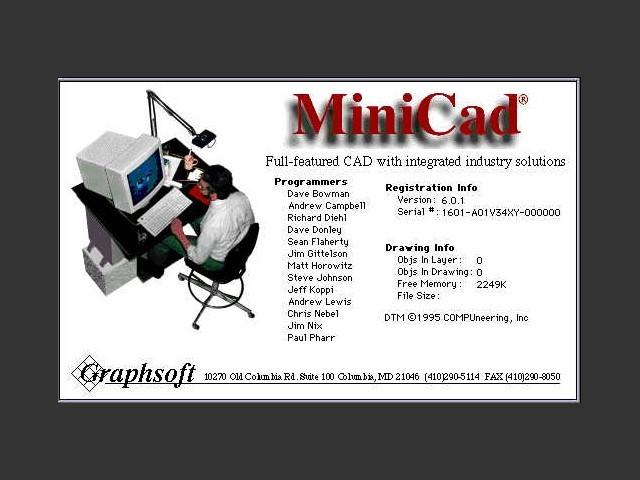 MiniCad 6.0.1 (1995)