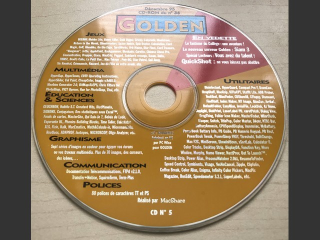 Golden Magazine CD covers (1995)