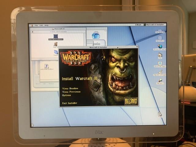 Installation splash on iMac G4