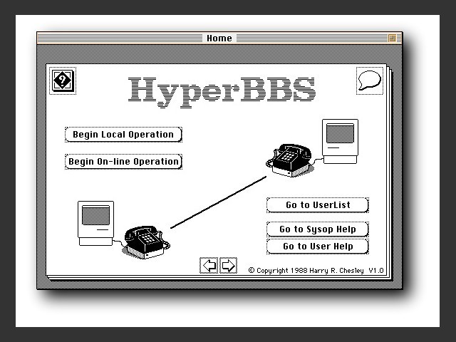 HyperBBS home screen