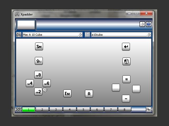 Xpadder configuration