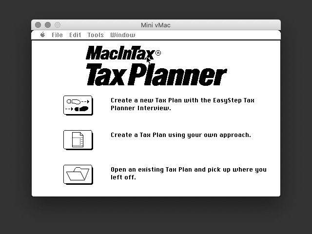 MacInTax Tax Planner v11.10 (1992)