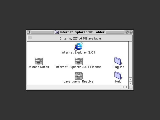 Internet Explorer 3.0.1 (1997)