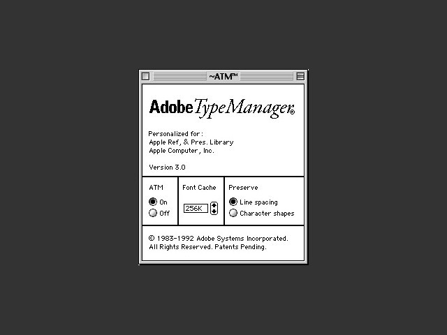 Adobe Type Manager 3.0 (1992)