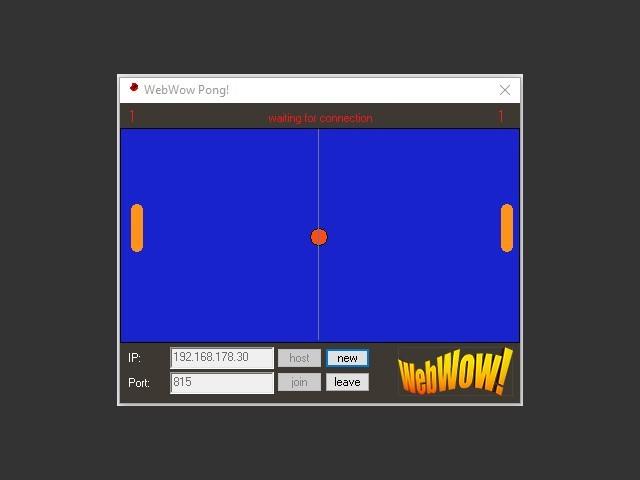 WowPong running on Windows 10