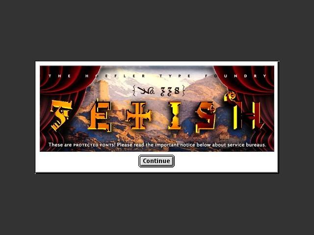 Font installer splasn screen 2