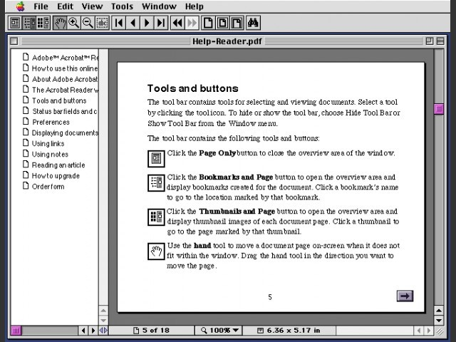 Adobe Acrobat Reader 2.0 (1994)