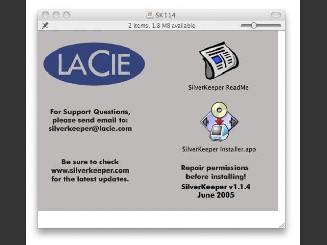 LaCie SilverKeeper v1.x (2005)