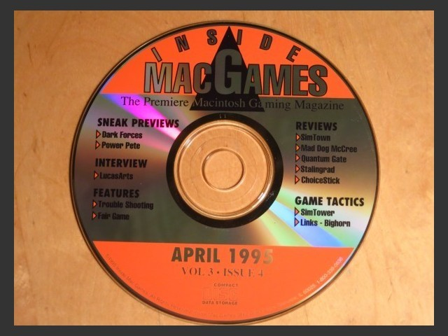 Inside Mac Games CD April 1995 (1995)