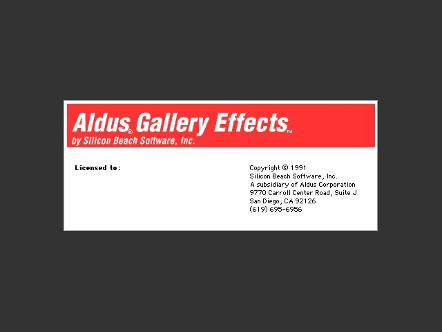 Aldus Gallery Effects Vol. 1 (1991)