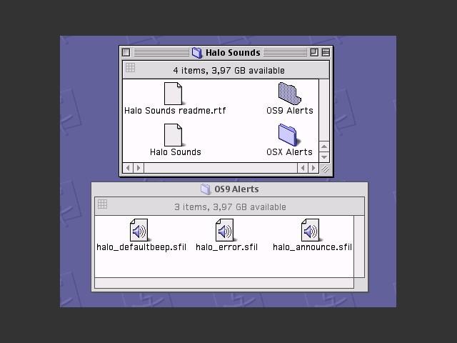 Halo Sound Set folder contents