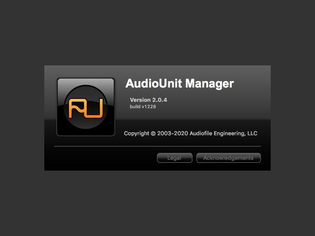 AudioUnit Manager 2.0 (2008)