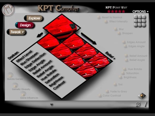 KPT Convolver Design Mode