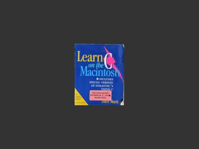 Learn C on the Macintosh - 1st Edition - Cover