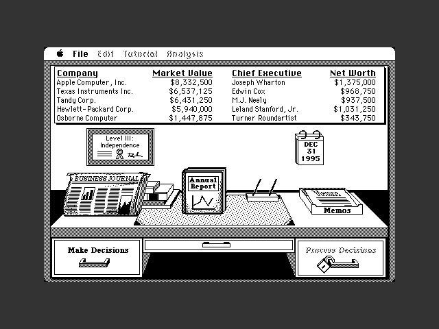 Venture's Business Simulator (1987)