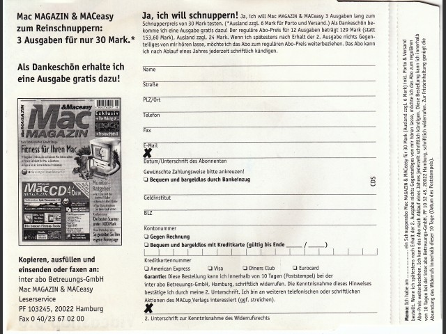 Mac Magazin CD 47 (September 1998, German) (1998)