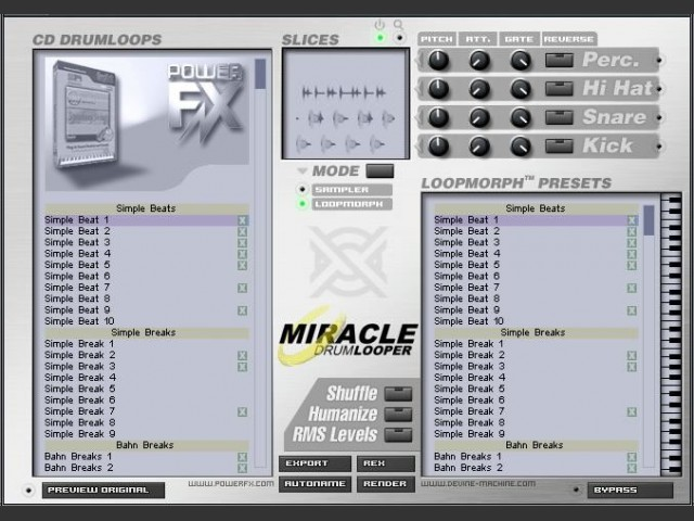 reFX MIRACLE BEATS VSTi (mac os X powerpc) (2004)