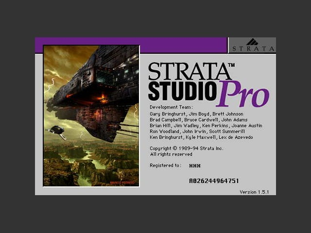 Strata StudioPro 1.1 to 1.75+ (1994)
