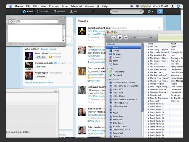 Twitter WDT seen in background on desktop