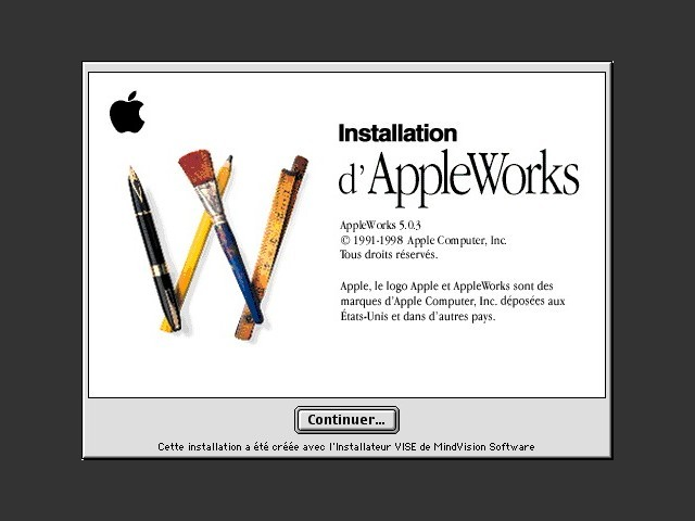 AppleWorks 5.0.3 (French + Dutch) (1999)