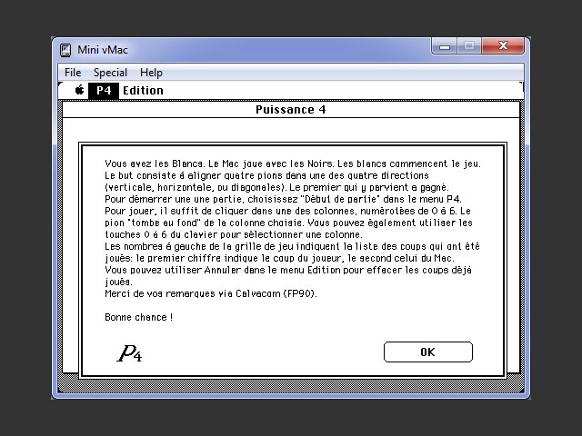 Instructions screen (FRENCH)