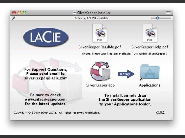 LaCie SilverKeeper v2.x (2009)