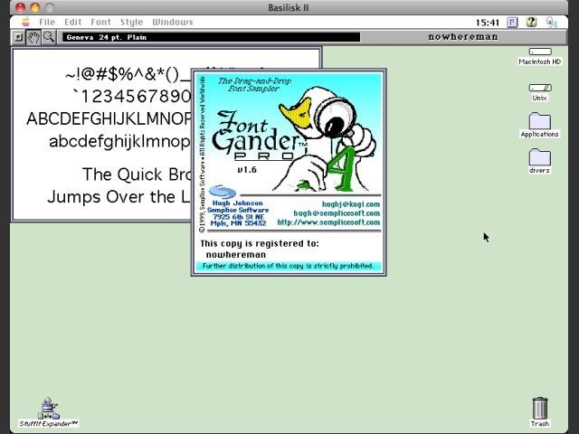Font Gander Pro 1.6 (1999)