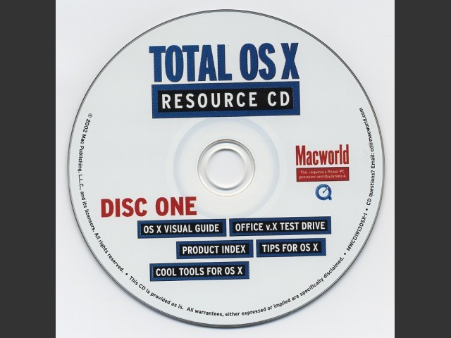 Macworld Total OS X Resource CD (2002)
