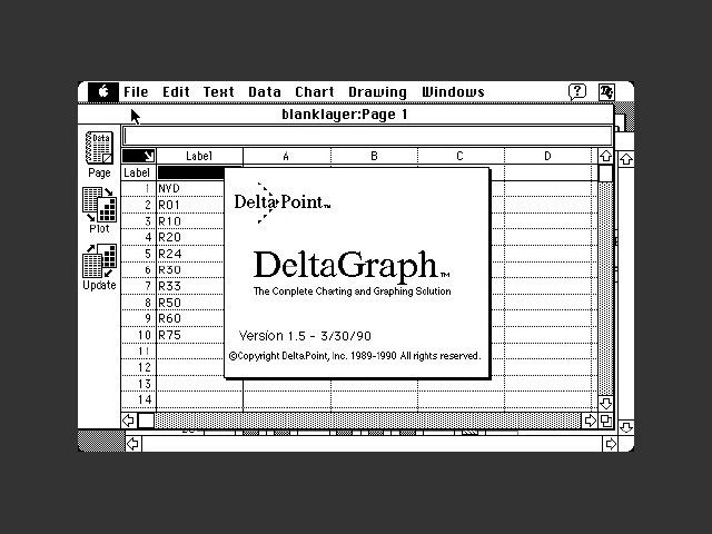 DeltaGraph 1.5 (1990)