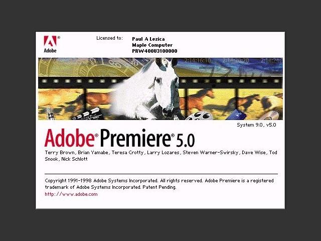 Adobe Premiere 5.0 (1998)