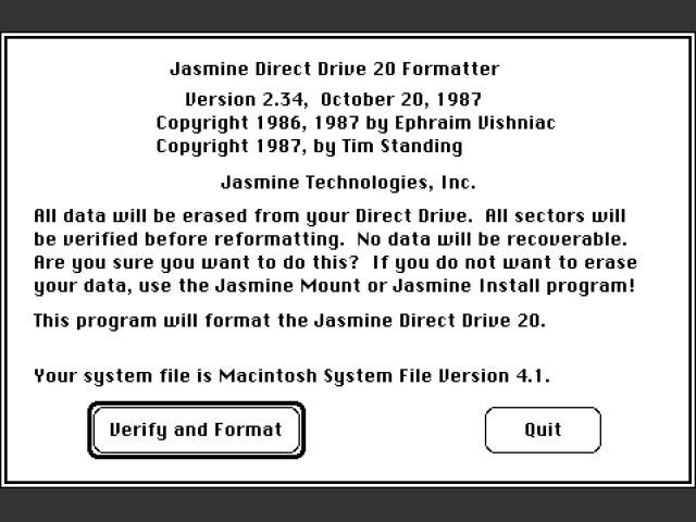 Jasmine Direct Drive 20 Utilities (1987)