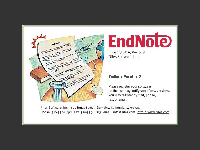 EndNote 3.1 (1998)
