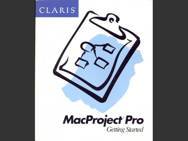Claris MacProject Pro 1.0 (1992)