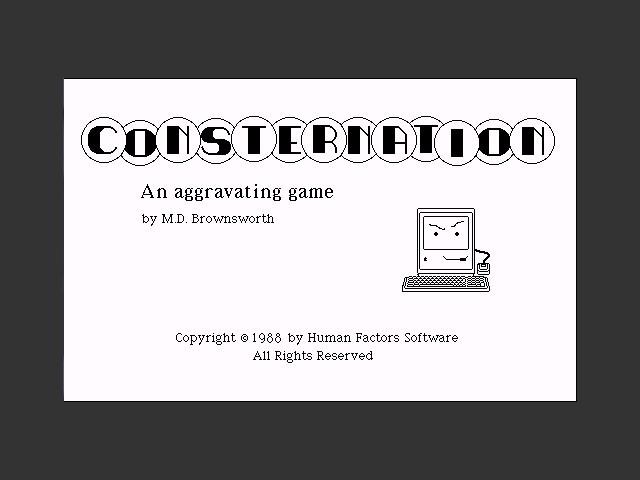 Consternation 1.0 demo (1988)