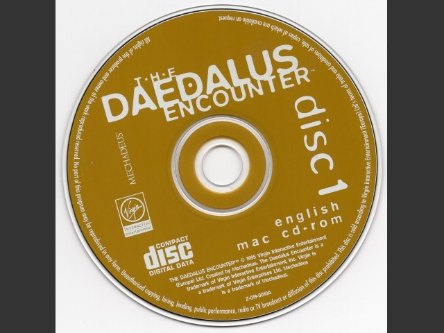 The Daedalus Encounter English (1995)