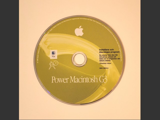 Mac OS 8.5 - Power Macintosh G3 restore (Swedish) (1998)