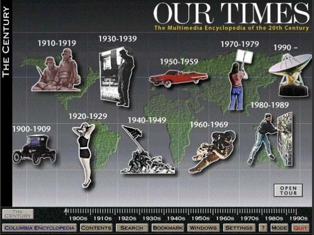 Timeline (decades / entire century)
