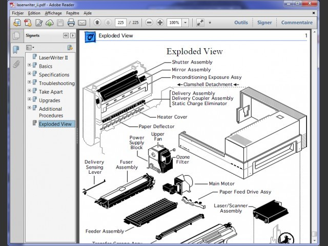 A sample of the scanned manuals