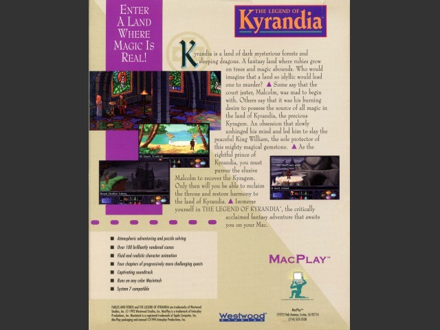The Legend of Kyrandia, Book One (floppy version) (1993)