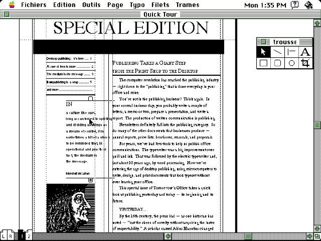 Aldus PageMaker 1.2 (1986)