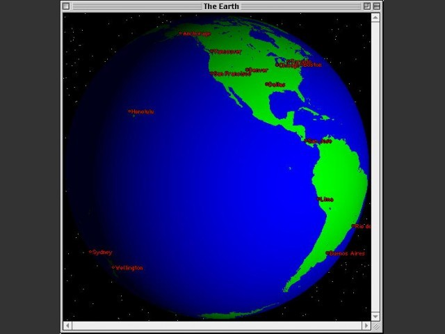 Xearth for Mac 0.9 (1995)